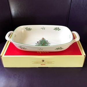 Spode Christmas Tree Bread Basket